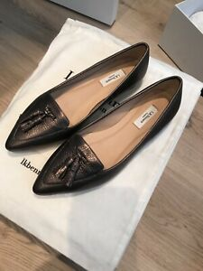 Women's LK Bennett Shoes Flats Size 37 UK 4 New with box, Bronze, Leather