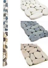 Marmorbordüre Flusskieselbordüre Boden Wand Küche Beige Weiß grau Schwarz
