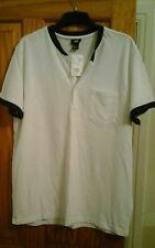 H&M White/black open crew neck t shirt bnwt