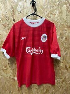 1998/00 Liverpool Reebok Home Shirt Red Size Medium Mens