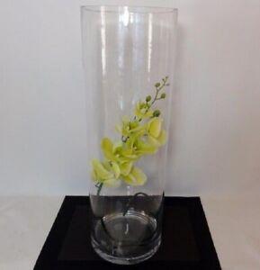 """Floor vase cylinder/round, clear, 24"""" / 60 cm flower centrepieces wedding decor"""
