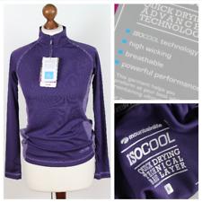 ISOCOOL Ladies Base Layer Hiker Running Purple Long Sleeve Top Size 6