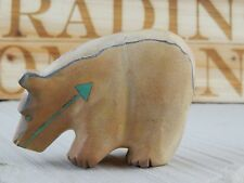 Bear - Zuni Fetish - Andres Quandelacy - Zuni Bear Carving - Native American