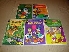 Walt Disney Comic Book Lot Of 5 (1975) Bambi, Robin Hood, Mickey Mouse  FN