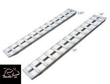 """72""""Aluminum Trailer Ramps Truck Trailer Car Ramps 1-Set two ramps =6000lb Capaci"""