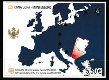 Europa 50 years souvenir sheet mnh 2006 Montenegro #130 silver stars