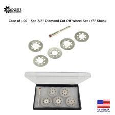 100 X 5pc Diamond Cut Off Wheel Set Lapidary Disc Mandrel Abrasive Rotary Tool