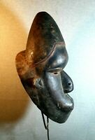 Mask BIG   African Carved Wood Tribal Wall Hand Vintage Art Wooden Face 1349