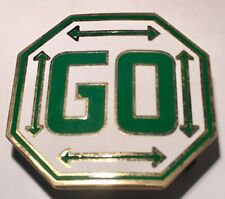 Vintage Custom Brass Pass GO Monopoly Octagon Game Belt Buckle Rare Collectible