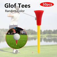 """50 - 3 1/4"""" Rubber Top Plastic Golf Tees (various colors)"""