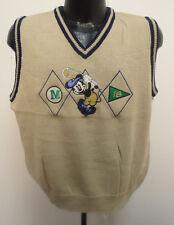Mickey Mouse Womens Medium Golf Vest Stitch Disney Vintage Retro Vtg Donn Kenny