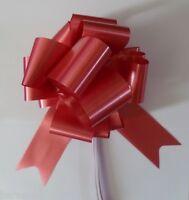 "Wedding Car Kit 3x Large 50mm Poly Pull Bows & 6 Metres 2"" Poly Ribbon"