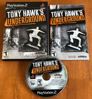 Tony Hawk's Underground (PlayStation 2, 2003) Near Mint +, PS2, Complete, Tested