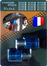 2 Diabolos anodisés Bleus pour béquille stand atelier Kawasaki
