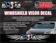 LETHAL THREAT Car Truck Van Sticker Decal WINDSHIELD VISOR USA SKULL LT56001