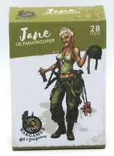 Wargamer HD-28-10 Jane US Paratrooper (28mm) Hot & Dangerous Female Airborne NIB