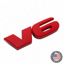 For Tacoma Pickup Truck V6 Red Tailgate Rear Body Nameplate Logo TRD Emblem