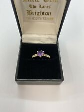 amethyst heart and Cz Ring