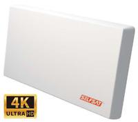Selfsat H22D+ Flachantenne Single Sat HDTV 4K/UHD tauglich inkl Fensterhalterung