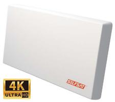 Selfsat H22D2+ Flachantenne Twin LNB Sat HDTV 4K/UHD tauglich + Fensterhalterung