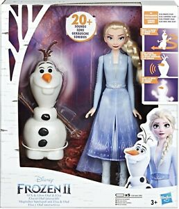 Disney Frozen 2 Talk And Glow Olaf And Elsa Doll Toy Playset
