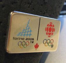 Torino 2006 20th Winter Olympic CBC Canadian Television globe logo media pin