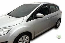 DFO15292 FORD C-MAX mk2  2011-up IN CHANNEL WIND DEFLECTORS 4pc HEKO TINTED
