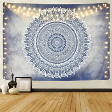 Blue Mandala Tapestry Bohemian Flower Wall Hanging Psychedelic   (60x79Inches)