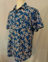 Rodd & Gunn Sports Fit Shirt Mens Size XL Button Up Blue Floral Woven In Italy