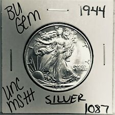 1944 BU GEM LIBERTY WALKING SILVER HALF UNC MS+++ U.S. MINT RARE COIN 1087