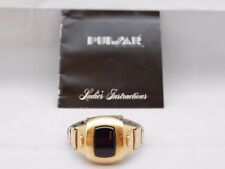 Pulsar Time Computer LED Vintage, Used, Pre-Owned, Women's Watch 14K GF 1970's