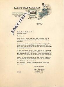 1927 E SCOTT La Porte Indiana KUMFY KAB COMPANY BABY CARRIAGES letterhead STROLL