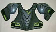 Reebok 3K ZG3 Lacrosse Shoulder Pads Small Chest Back Protector pad Black S NEW