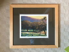 Ken Elliott Framed Art: Evening Oaks, Giclee on Somerset Velvet