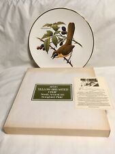 1975 Avon Yellow Breasted Chat North American Songbird Plate Don Eckelberry