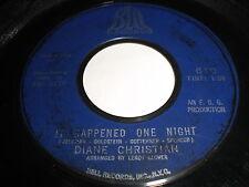 Diane Christian: It Happened One Night / Wonderful Guy 45 - Northern Soul