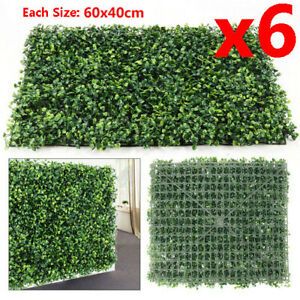 6x Large Artificial Boxwood Buxus Topiary Mat Garden Hedging 60 cm x 40 cm Decor