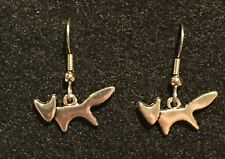 FOX Earrings Stainless Hook New Sly Foxy Animal Wild Clever