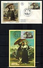 1981 - ENVELOPPE + FDC CP 1°JOUR -OEUVRE DE GOYA-OBL.PARIS-NANCY -TIMBRE Yt.2124