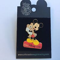 Mickey Mouse Holding a Teddy Bear Disney Pin 23712