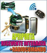 SERRATURA ELETTRICA CON RICEVENTE  E TELECOMANDO - APRIPORTA ELETTROSERRATURA