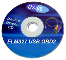 DRIVER CD DISK SOFTWARE DVD . V1.5 ELM327 OBD2 USB DIAGNOSTIC SCANNER #US68
