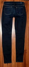 WOMENS 7 FOR ALL MANKIND GWENEVERE SKINNY MID RISE STRETCH DARK JEANS SIZE 26X30