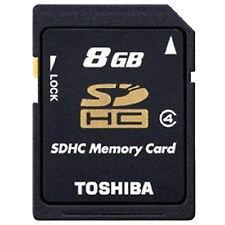 8GB Toshiba SD Secure Digital Memory Card SDHC Standard Cass4 for Camera GENUINE