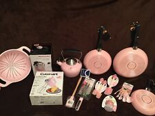 KitchenAid PINK COOK FOR THE CURE Cancer 18pc set/lot grater colander Skillets