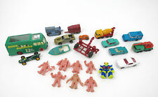 VINTAGE TOY LOT: MATCHBOX CARS M.U.S.C.L.E MEN BATTLE BEAST TOOTSIETOY FARM TOY