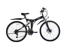 "Ecosmo 26"" Wheel Folding Steel Mountain Bicycle Bike 21SP, 18.5""-26SF02BL+ Bag"