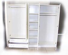 Budget 2000mm White 3 Piece Wardrobe Hanging, Draws + Skinny Shelves - BRAND NEW