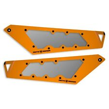 Moto Armor RZR Headlight Covers ORANGE W/Lenses Polaris RZR XP 1000, 900, Turbo