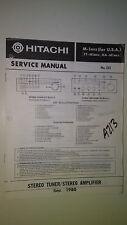Hitachi m-1 mkIi 2 service manual original repair book stereo amp